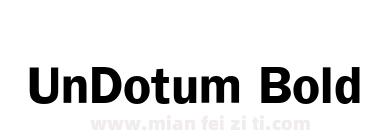 UnDotum Bold