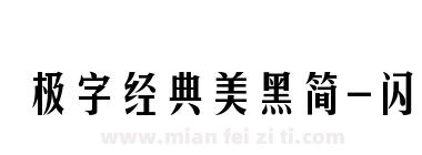 极字经典美黑简-闪