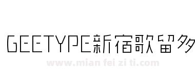 GEETYPE新宿歌留多体-闪 纤细