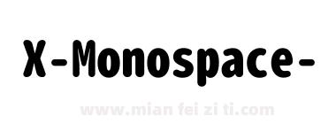 X-Monospace-Heavy