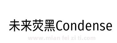 未来荧黑Condensed-Book