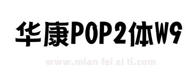 华康POP2体W9