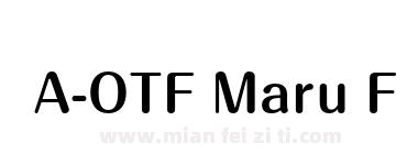 A-OTF Maru Folk Pro B