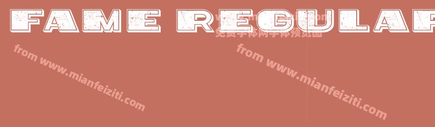 Fame Regular字体预览