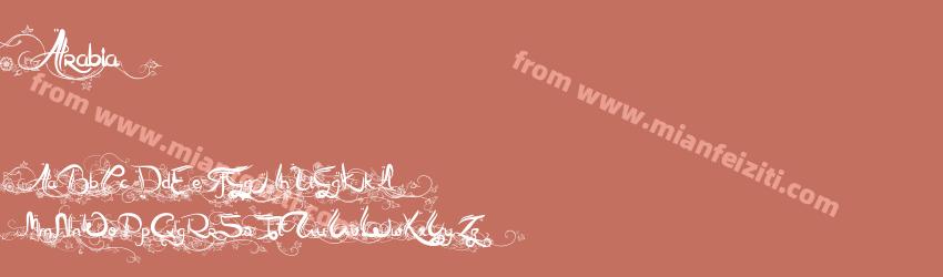Arabia字体预览