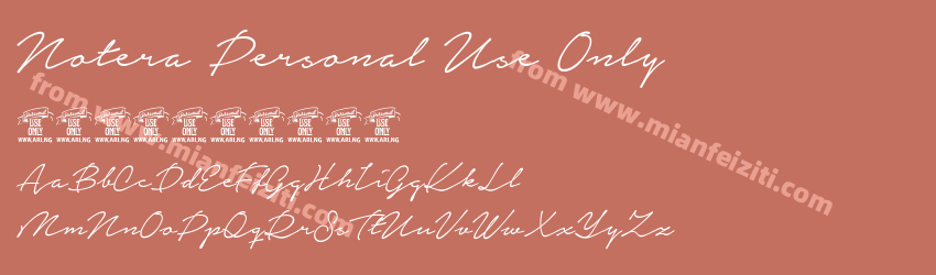 Notera Personal Use Only字体预览