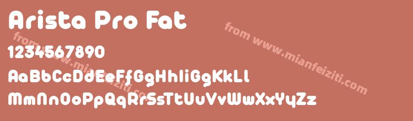 Arista Pro Fat字体预览