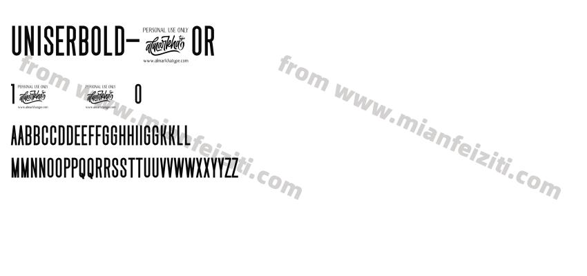 UniserBold-2Or58字体预览