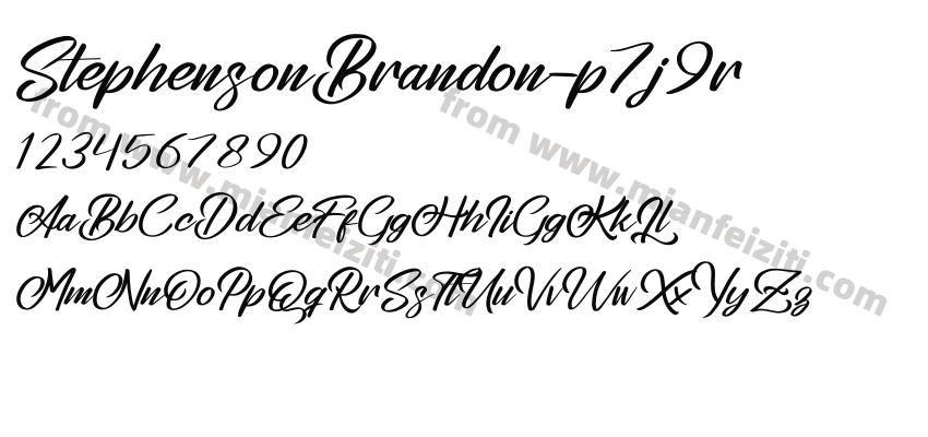StephensonBrandon-p7j9r字体预览