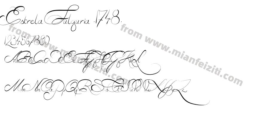 Estrela Fulguria .1748.字体预览