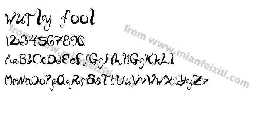 wurly fool字体预览